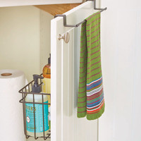 Over-Cabinet-Door Towel Bar with Basket