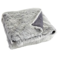 Gray Ombre Faux Fur Blanket & Shams
