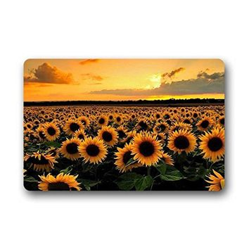 Memory Home Door Mats Sunshine Sunflower Indoor Non-Slip Front Door Entrance Doormat Bath Kitchen Decor Rug Carpets