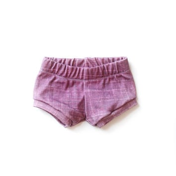 Organic Baby Shorties Cranberry Plum
