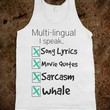 White Tank | Funny Shirts