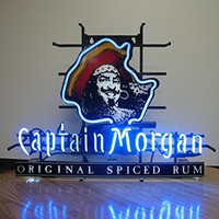 "Urby™ 17""x14"" C aptain M organ Custom Handmade Glass Tube Neon Light Sign"
