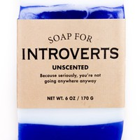 Introverts Unscented Soap - Because Seriously, You're Not Going Anywhere Anyway