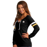 Pittsburgh Steelers Antigua Women's Foxy Lace Up Fleece - Official Online Store