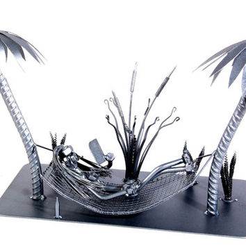 Hammock - MetalDiorama Metal Art Sculpture