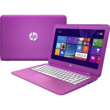 "HP - Stream 13.3"" Laptop - Intel Celeron - 2GB Memory - 32GB Flash Storage - Orchid Magenta/Tulip Purple/Lily Pink"