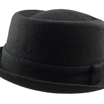 Revive Online Men's Wool 'Breaking Bad' Style Pork Pie Hat L/Xl (59Cm) Black