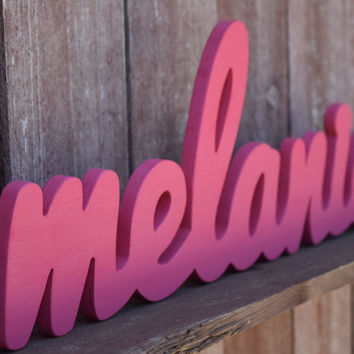 Baby Name Sign for Nursery Decor - Personalized wooden baby names for nurseries, kid's rooms, and baby showers