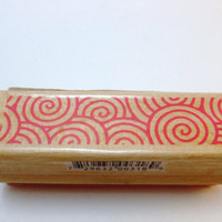 Swirl Design Pattern Rubber Stamp