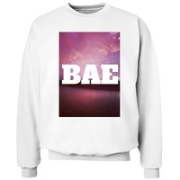 Bae Sunset: Custom Unisex Hanes Crewneck Sweatshirt - Customized Girl