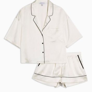 Cream Satin Pyjama Set | Topshop