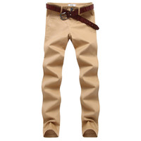 Mens Casual Slim Cotton Pants