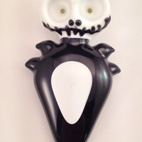 Jack Skellington Double Bowl Hand Blown Glass Pipe