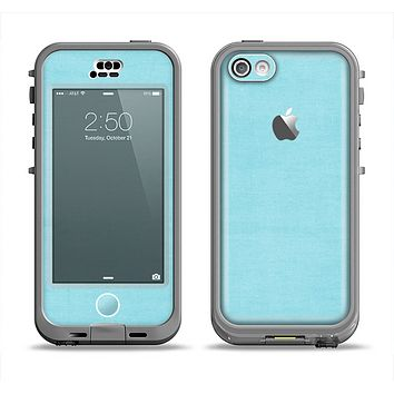 The Vintage Blue Surface Apple iPhone 5c LifeProof Nuud Case Skin Set