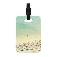 "Ingrid Beddoes ""Happy Summer"" Beach Decorative Luggage Tag"