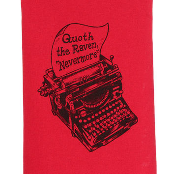 Poe's Typewriter Nevermore Tea Towel
