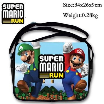 Super Mario party nes switch New Cute Cartoon Bag  Shoulder Bag For Kids Messenger Bag For School Girls Boys Children Birthday Gifts AT_80_8