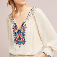 Marlow Embroidered Peasant Top
