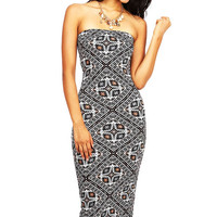 Tribal Slip Midi Dress