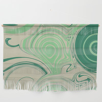 Spiraling Green Wall Hanging by sm0w