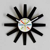 Vinylux Record Star Wall Clock - Urban Outfitters