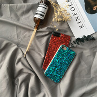 Luxury New year Glitter Phone Case Cover for iPhone 7 7Plus Glitter Case for iPhone 6 6s 6plus 6splus Case Soft TPU Capa Coque -0318