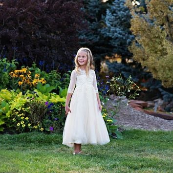 Ivory Gwendolyn Gown Dress - Toddler, Girls & Juniors