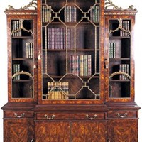 Library Chinoiserie bookcase, China cabinet