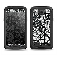 The Black and White Shards Samsung Galaxy S4 LifeProof Fre Case Skin Set
