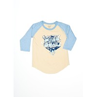 David Bowie Bubble Letter Baseball Tee