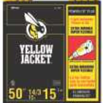 Coleman Cable Yellow Jacket 14/3 Sjtw 50 Ft. Extension Cord With Lighted Receptacle, Yellow
