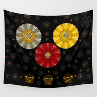 Color And Strawberrys Wall Tapestry by Pepita Selles