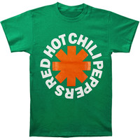 Red Hot Chili Peppers Men's  Asterisk Irish T-shirt Green