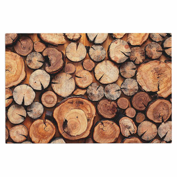 susan sanders rustic wood logs brown tan decorative - Decorative Wood