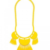 Fluoro Tassel Dreamcatcher Bib-Neon Yellow