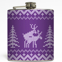 Prancer and Vixen - Purple Humping Reindeer Flask
