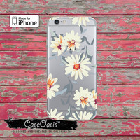 Daisy Flower Pattern Vintage Wallpaper Cute Clear Case iPhone 6 iPhone 6s iPhone 6s Plus iPhone 5/5s iPhone 5c iPhone SE iPhone 7 Plus Case