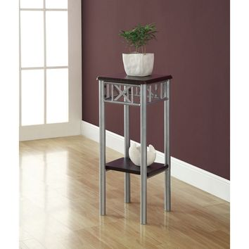 Cappuccino & Silver Metal Plant Stand