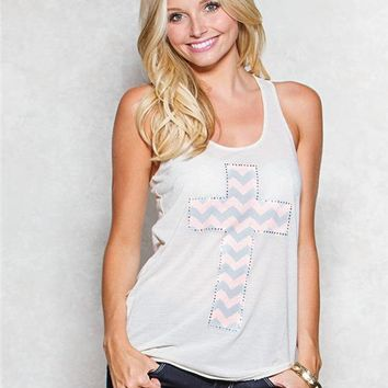 Chevron Cross Graphic Tank