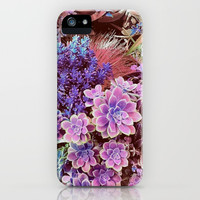 Succulent Garden View iPhone Case by ninamay