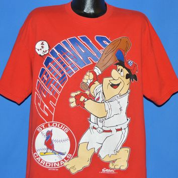 90s St. Louis Cardinals Fred Flintstone t-shirt Extra Large