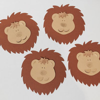 10 paper lions for kids safari birthday party or babyshower or scrapbooking