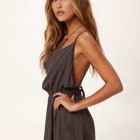 COWL NECK SILK COCKTAIL DRESS