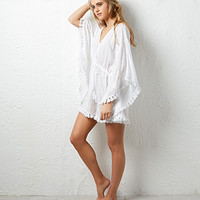 Sal Poncho Kaftan | White | Monsoon