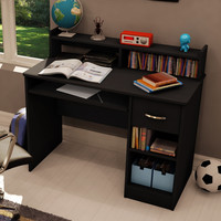Contemporary Eco-Friendly Computer Desk in Black