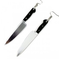 Handmade Gifts | Independent Design | Vintage Goods Slasher Knife Earrings  - HAPPY HALLOWEEN!