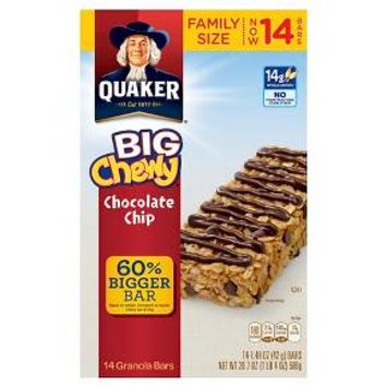 Quaker Big Chewy Chocolate Chips Granola Bars 20.7 oz