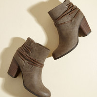 Clever All Ties Bootie in Coffee | Mod Retro Vintage Boots | ModCloth.com