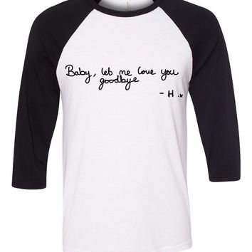 "One Direction ""Love You Goodbye"" Harry Handwriting Baseball Tee"