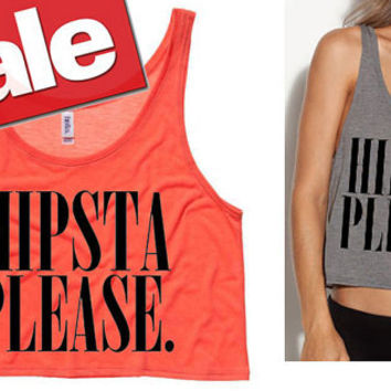 Hipsta Please Cropped Tank Top (Preorder)